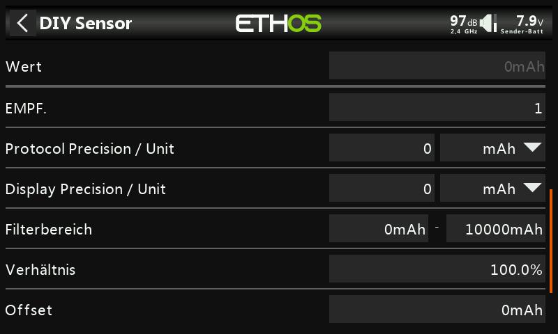 Ethos Konfiguration Einheiten